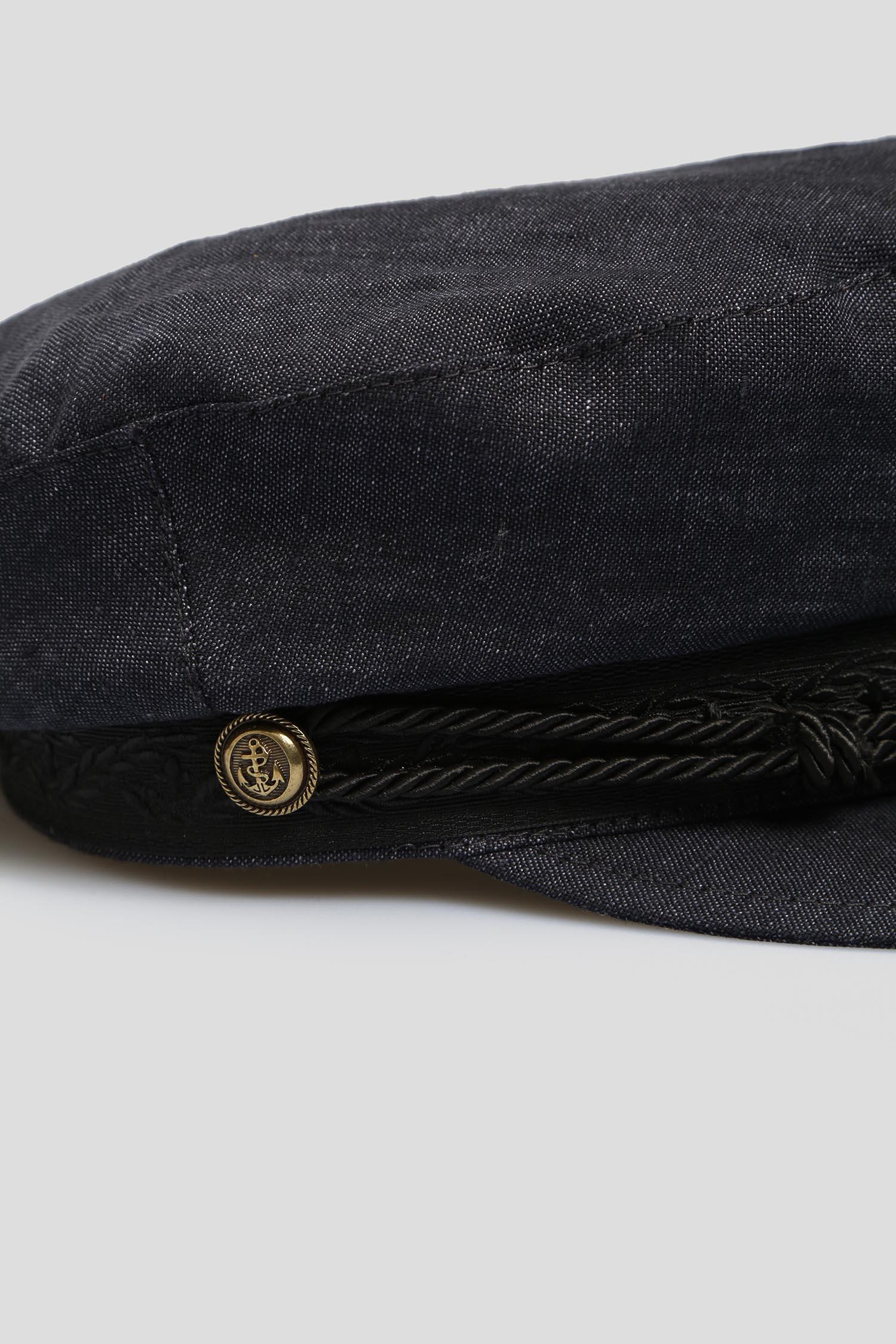 Мужское темно-синее льняное кепи Stetson