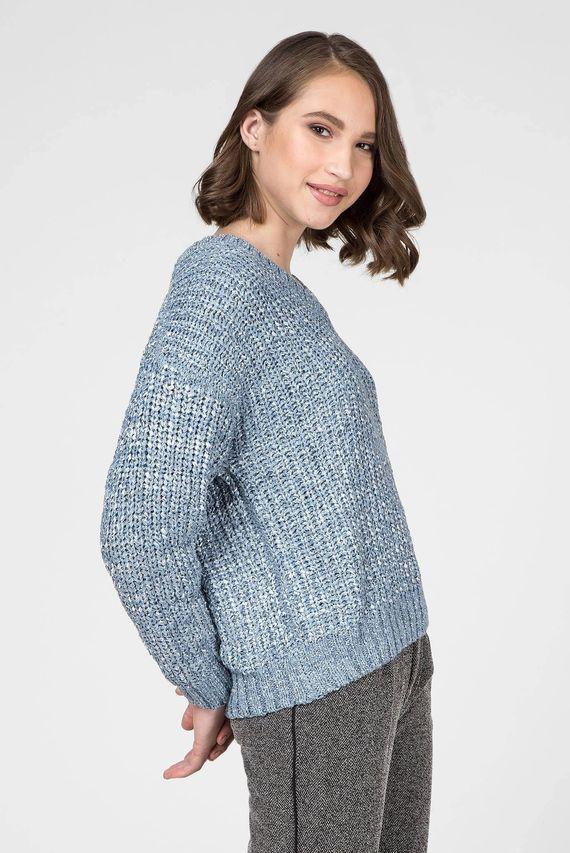Женский голубой пуловер SALLY