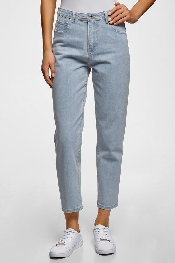 Женские голубые джинсы Mom fit