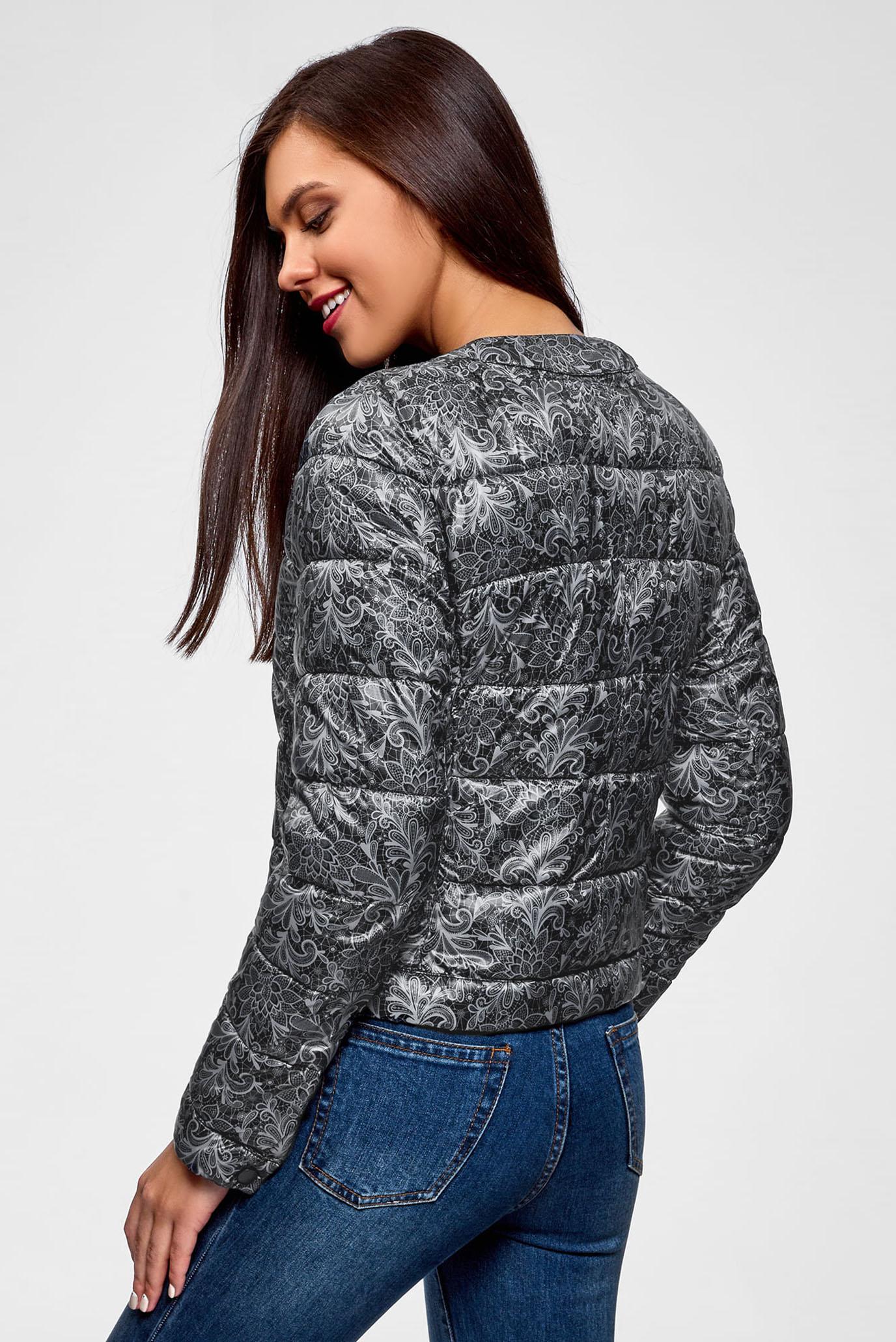 Купить Женская черная принтованная куртка Oodji Oodji 10203072B/42257/2923L – Киев, Украина. Цены в интернет магазине MD Fashion