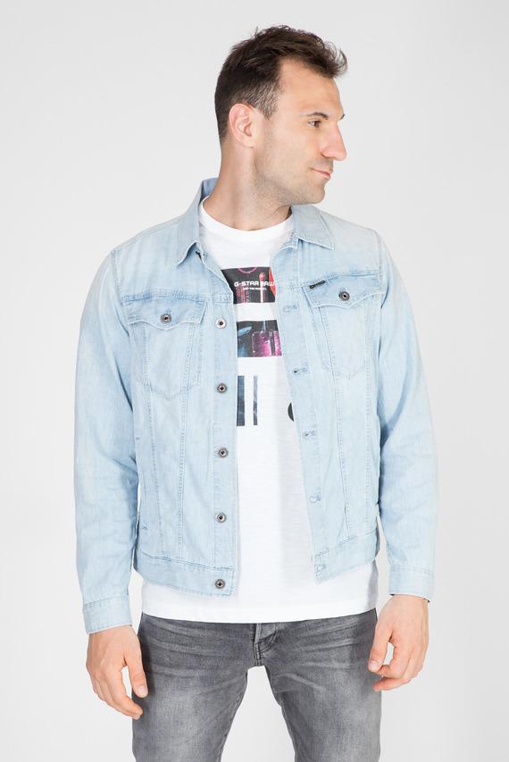 Мужская голубая джинсовая куртка 3301 slim