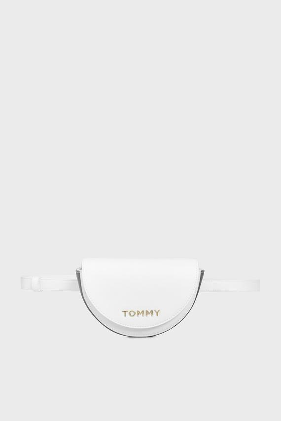 Женская белая поясная сумка