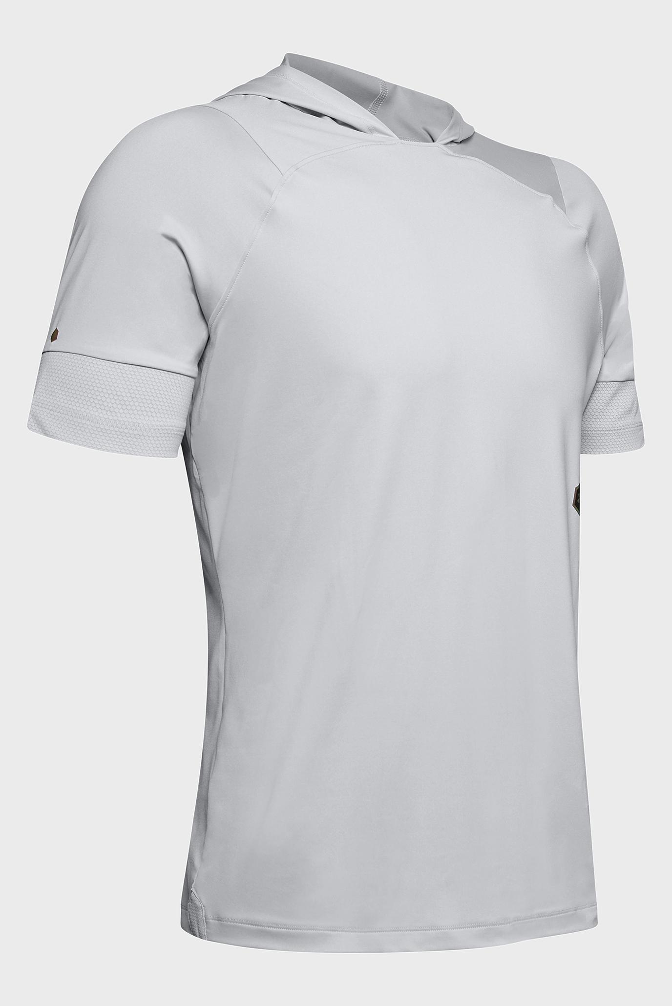 Купить Мужская светло-серая футболка UA Rush SS Hoodie Under Armour Under Armour 1328700-011 – Киев, Украина. Цены в интернет магазине MD Fashion