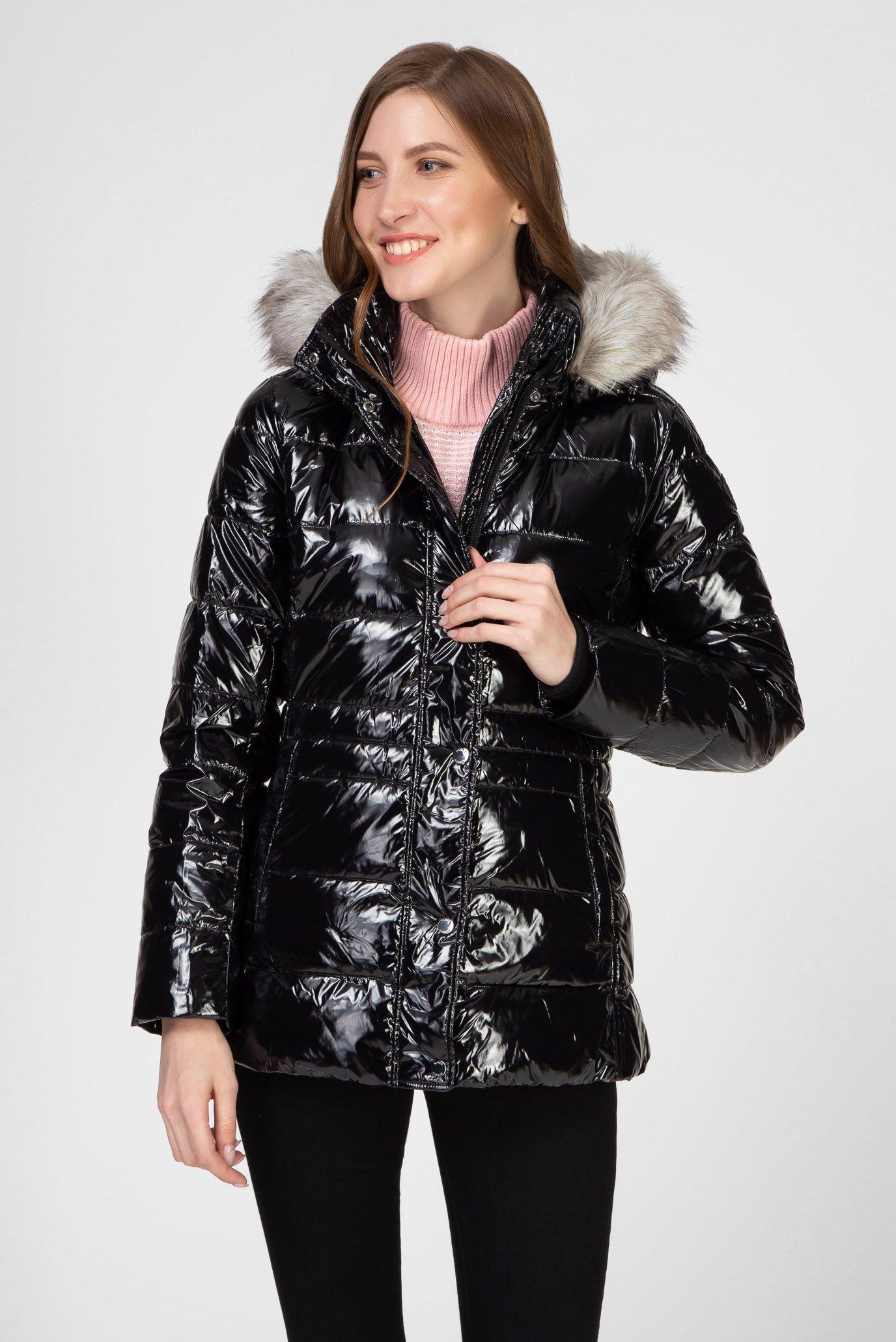 Жіноча чорна куртка NEW TYRA GLOSSY INSULATION 1