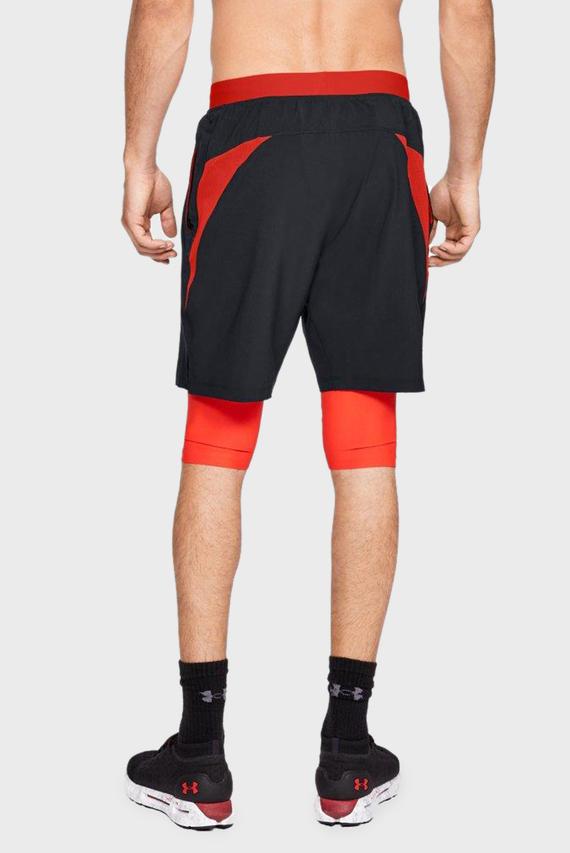Мужские черные спортивные шорты LAUNCH