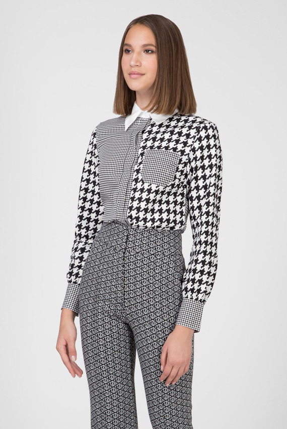Женская рубашка с принтом ZENDAYA FITTED HOUNDSTOOTH