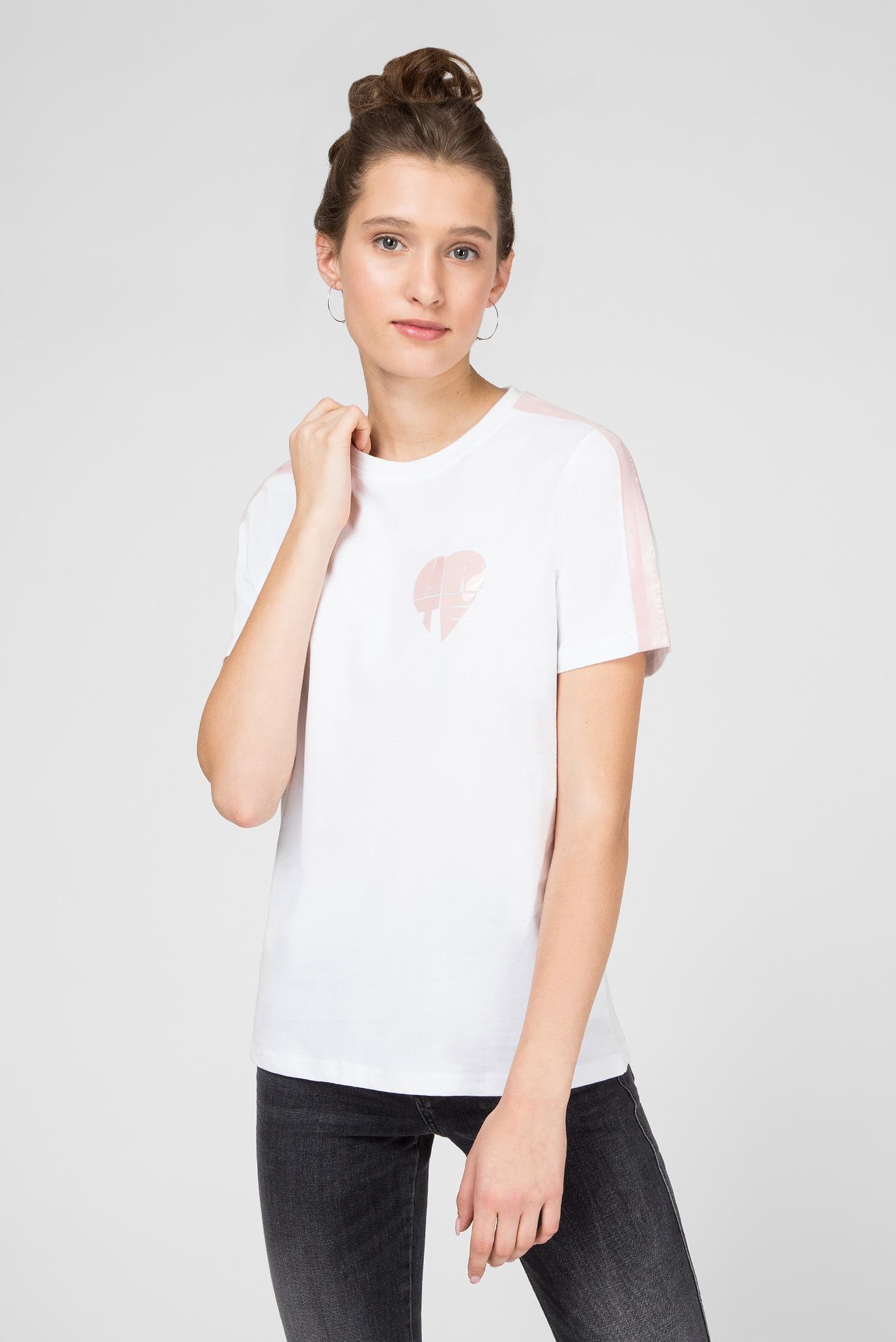 Женская белая футболка Preppy