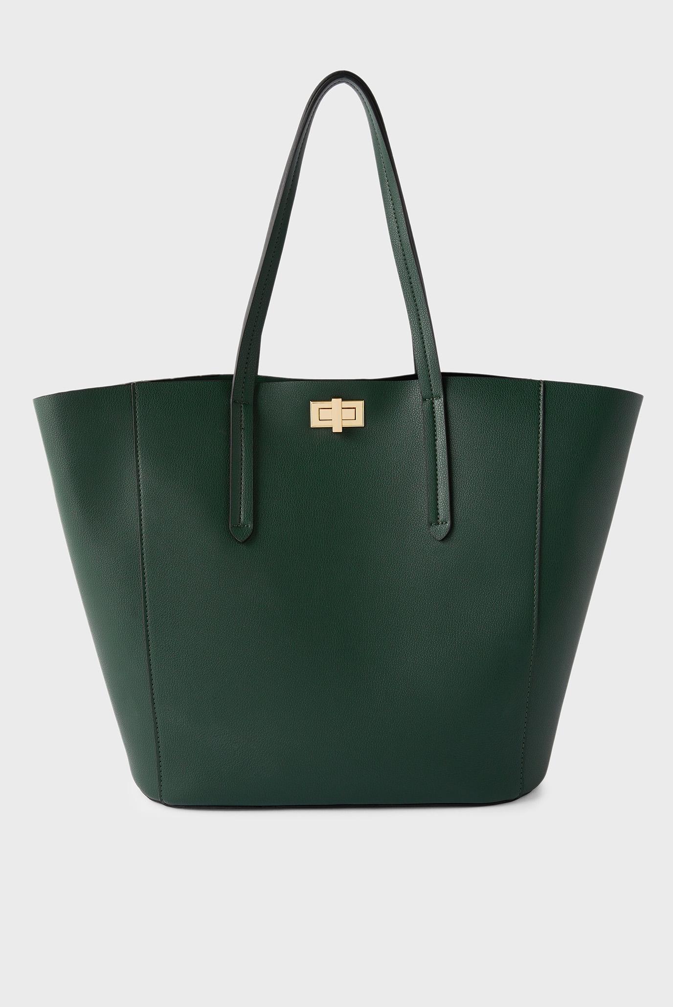 Жіноча зелена сумка KAYLA CURVE TOTE 1