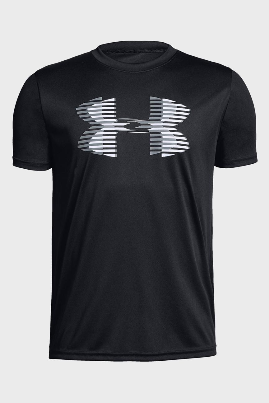 Детская черная футболка Tech Big Logo Solid Tee