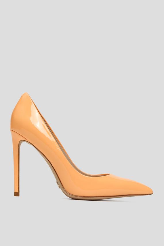 Женские оранжевые кожаные лодочки