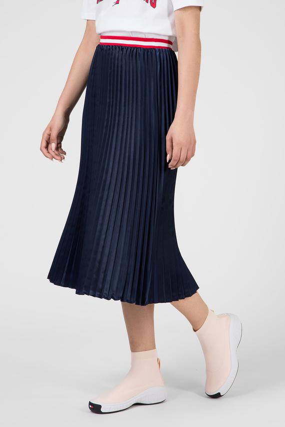 Женская синяя плиссированная юбка TJW PLEATED SATIN