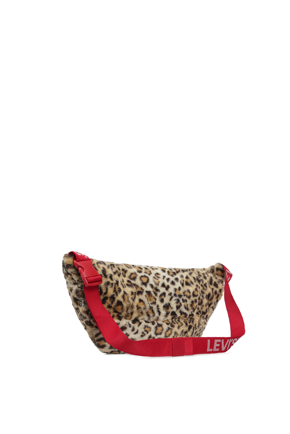 Женская леопардовая поясная сумка