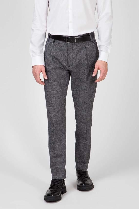 Мужские брюки в клетку TAPERED FIT