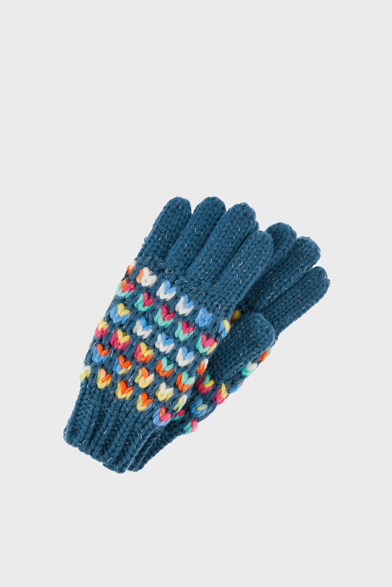 Детские синие перчатки RAINBOW WAFFLE GLOVE