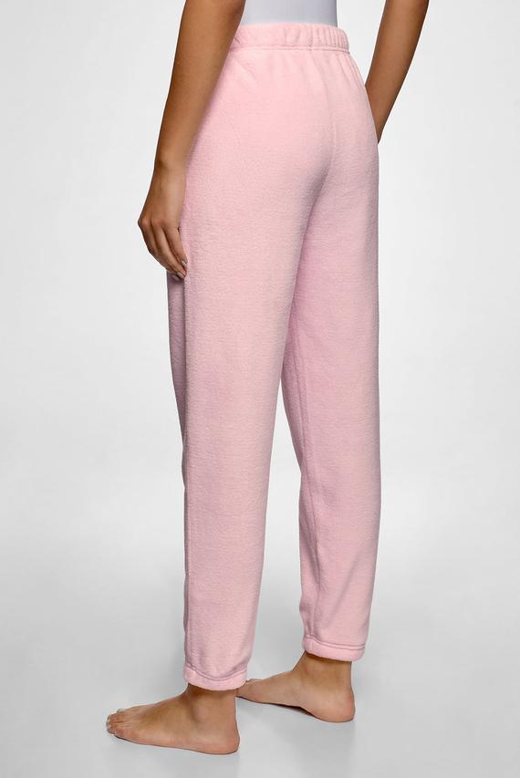 Женские розовые домашние брюки
