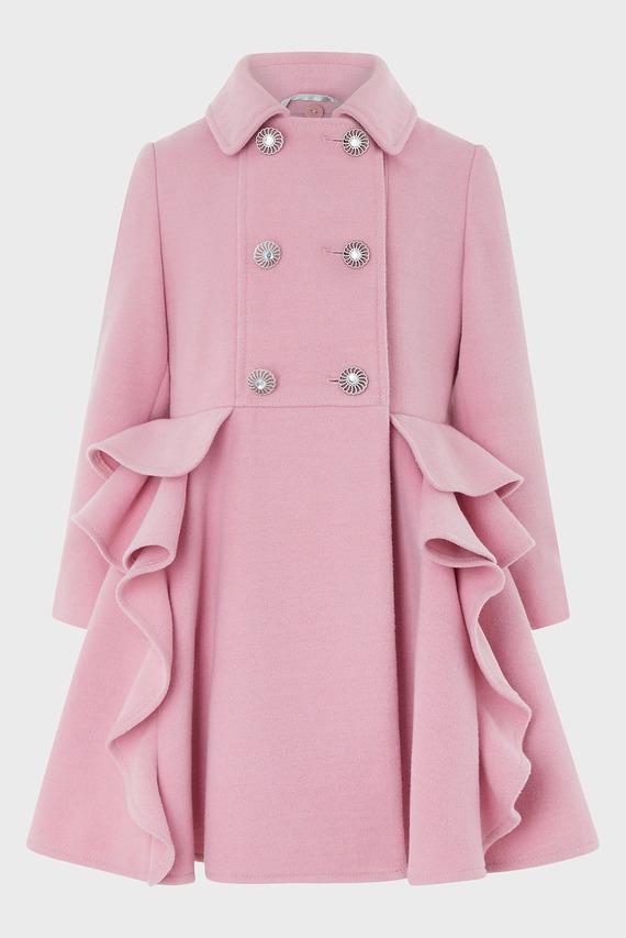 Детское розовое пальто AVA RUFFLE COAT