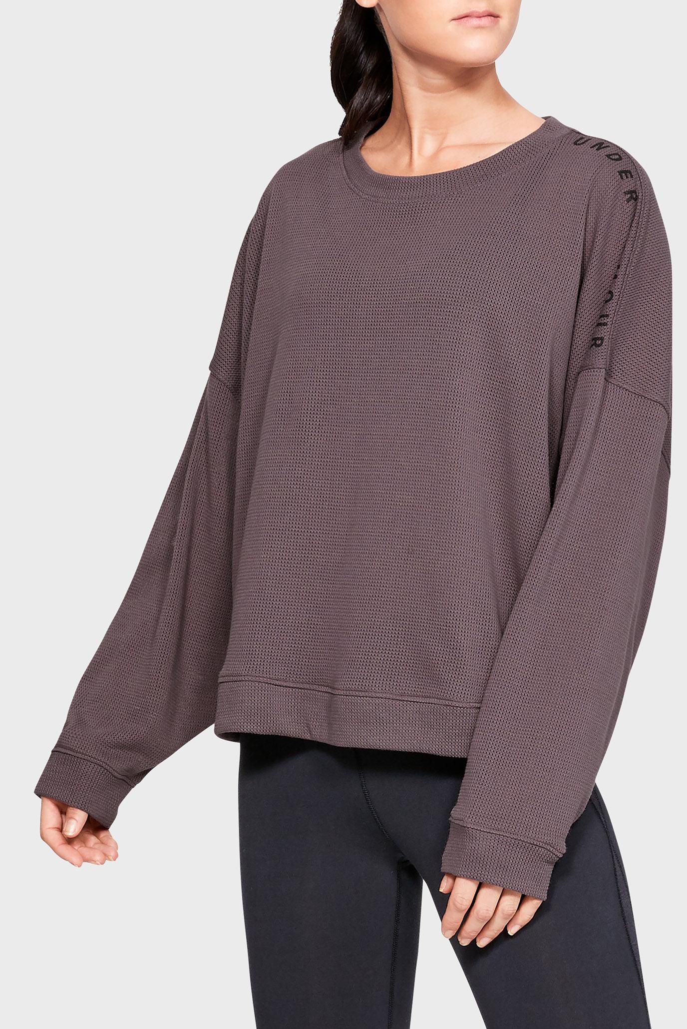 Женский коричневый свитшот MESH AROUND OS CREW Under Armour