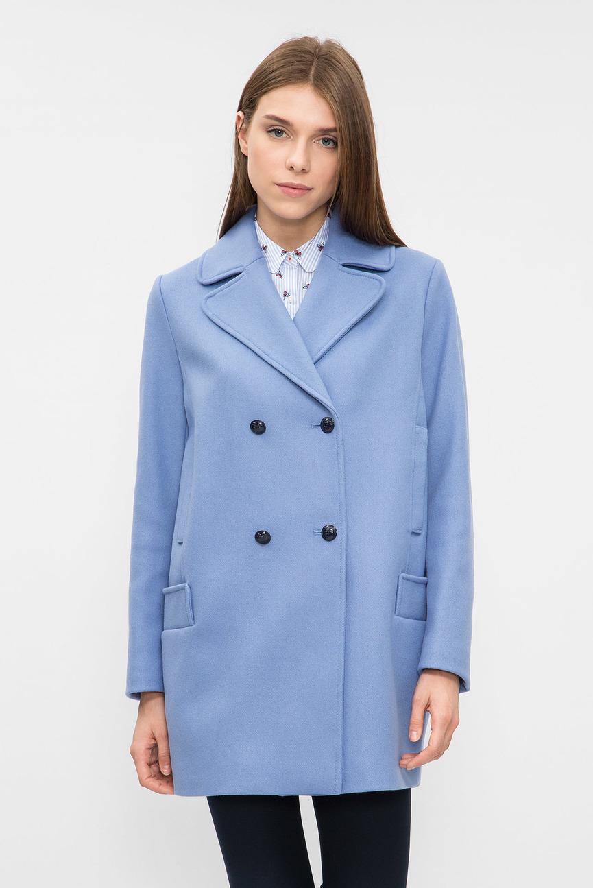 Женское голубое пальто IKE WOOL BLEND COAT