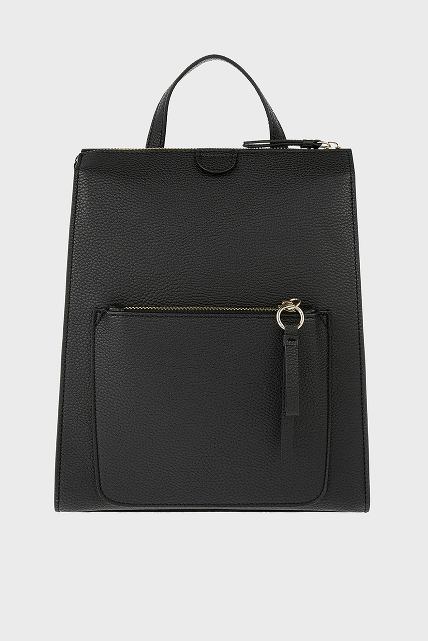 Женский черный рюкзак MILA BACKPACK