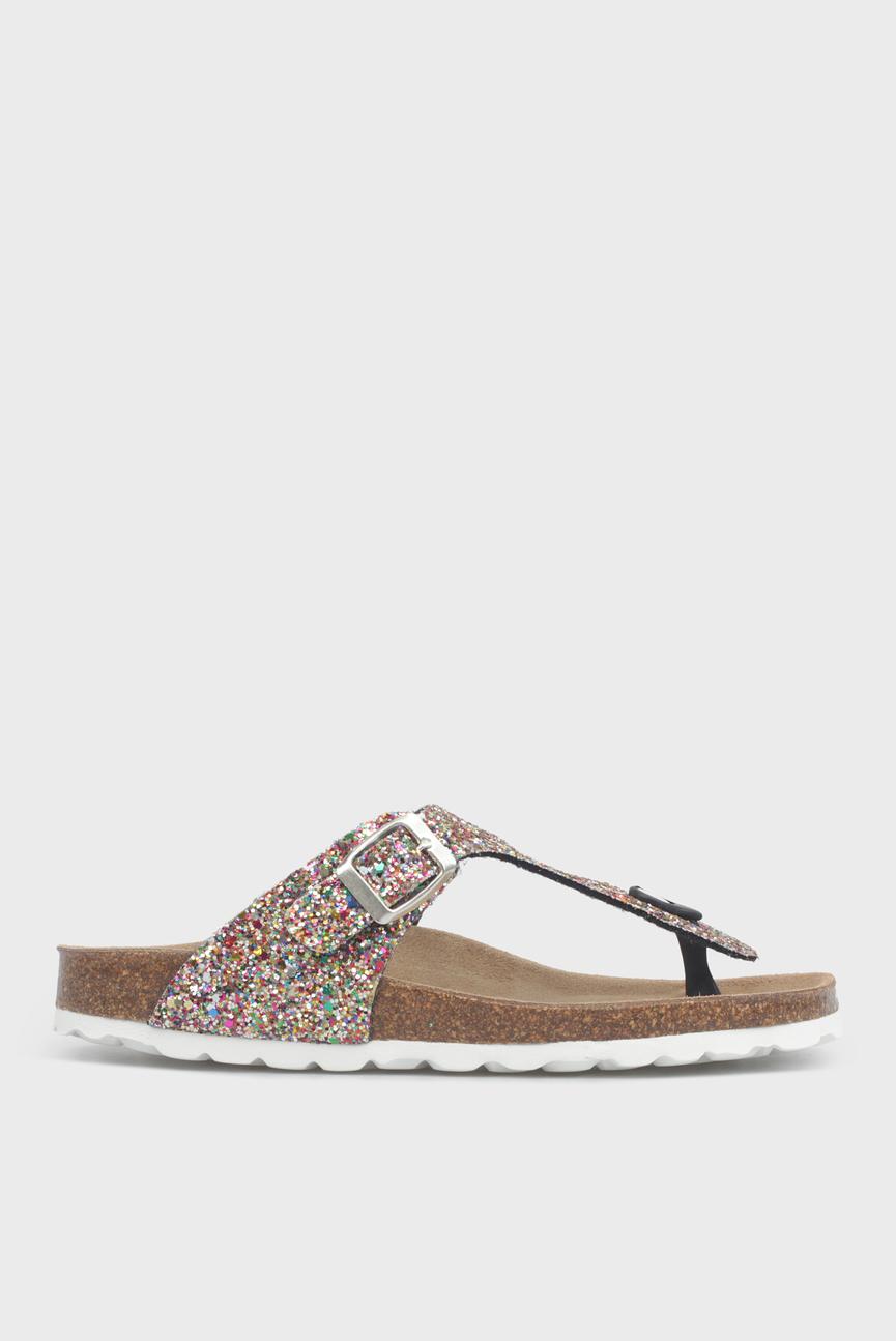 Женские золотистые сандалии