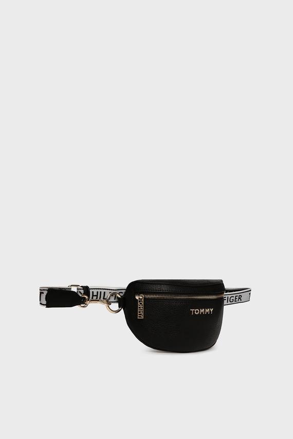 Женская черная поясная сумка ICONIC TOMMY BUMBAG