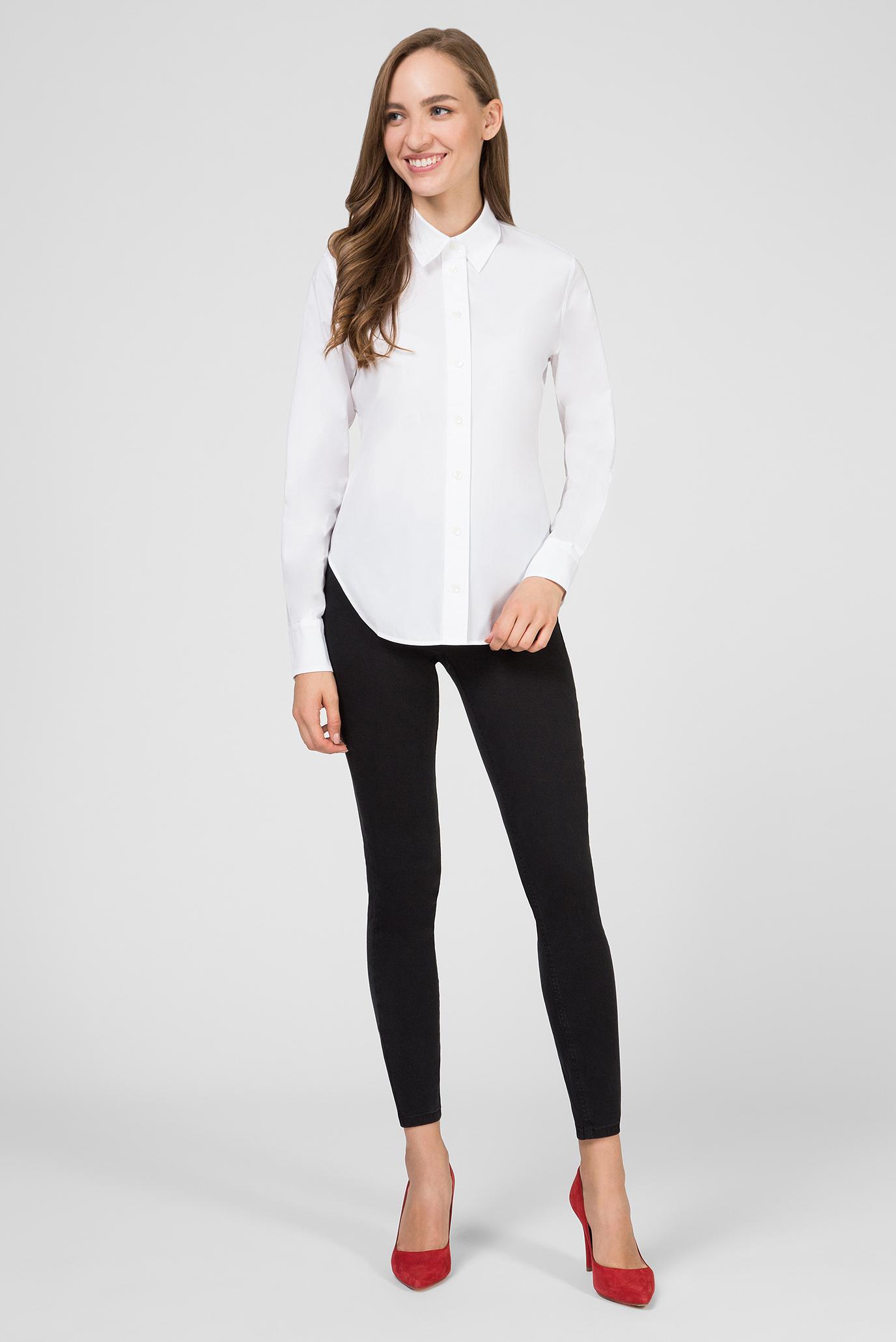 Женская белая рубашка CLASSIC Calvin Klein
