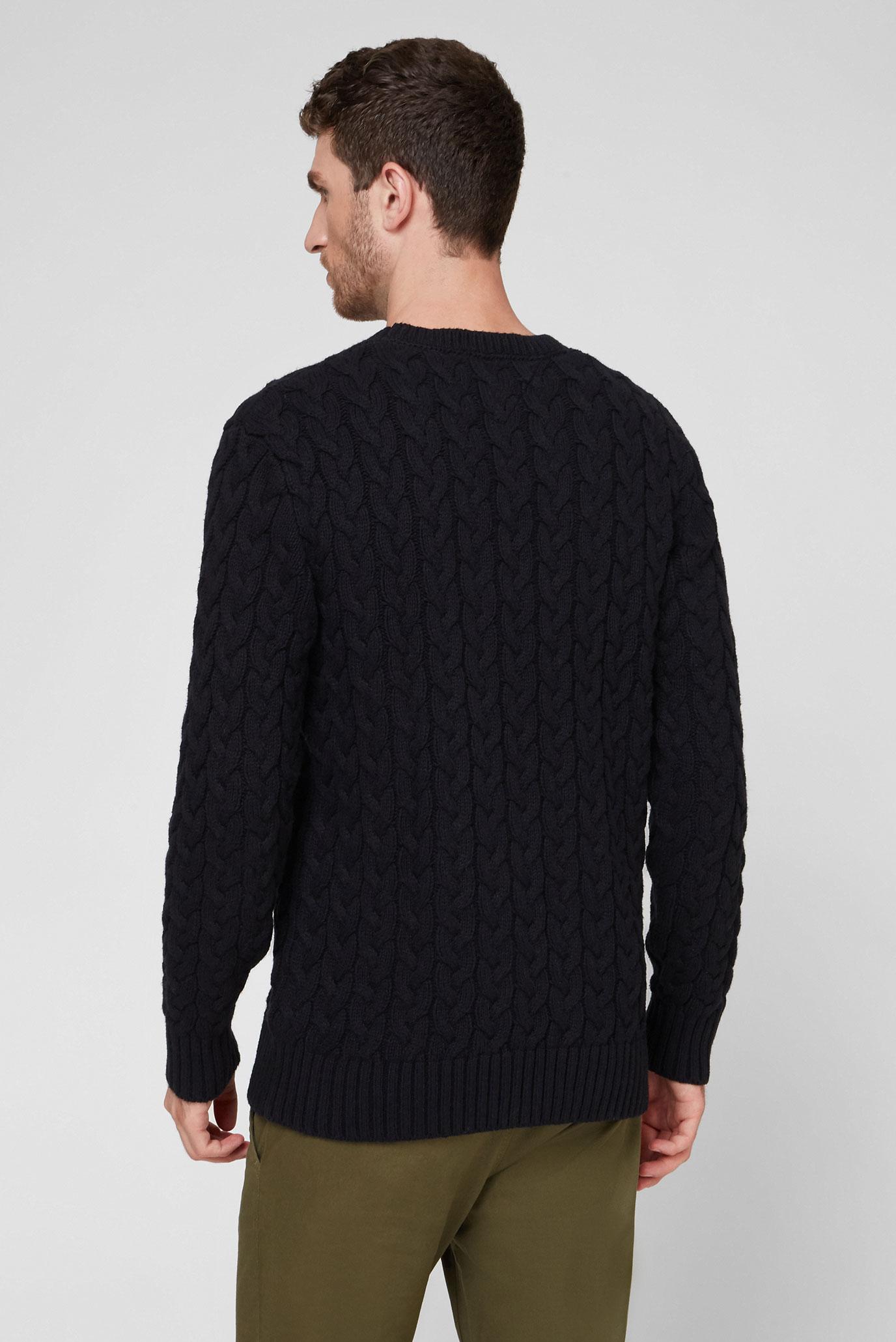 Мужской темно-синий свитер TJM CABLE SWEATER Tommy Jeans