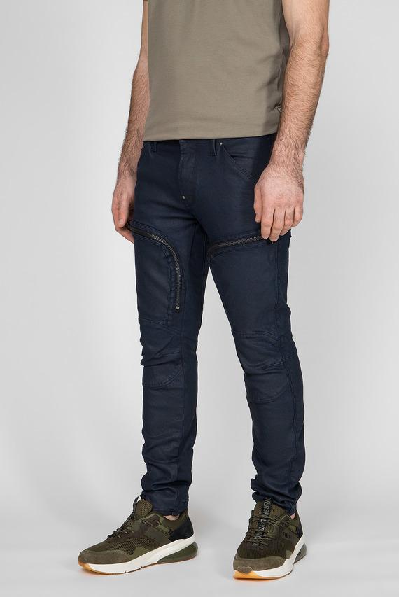 Мужские темно-синие джинсы Air Defence Zip Skinny