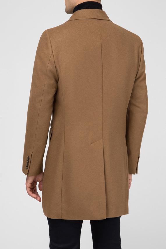 Мужское бежевое шерстяное пальто PLAIN WOOL CASH