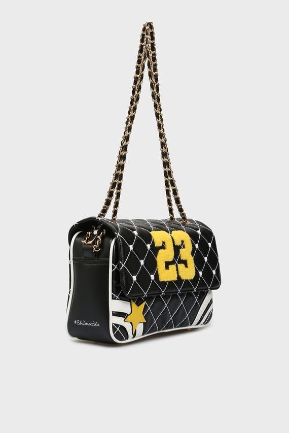 Женская черная сумка через плечо TWENTY-THREE