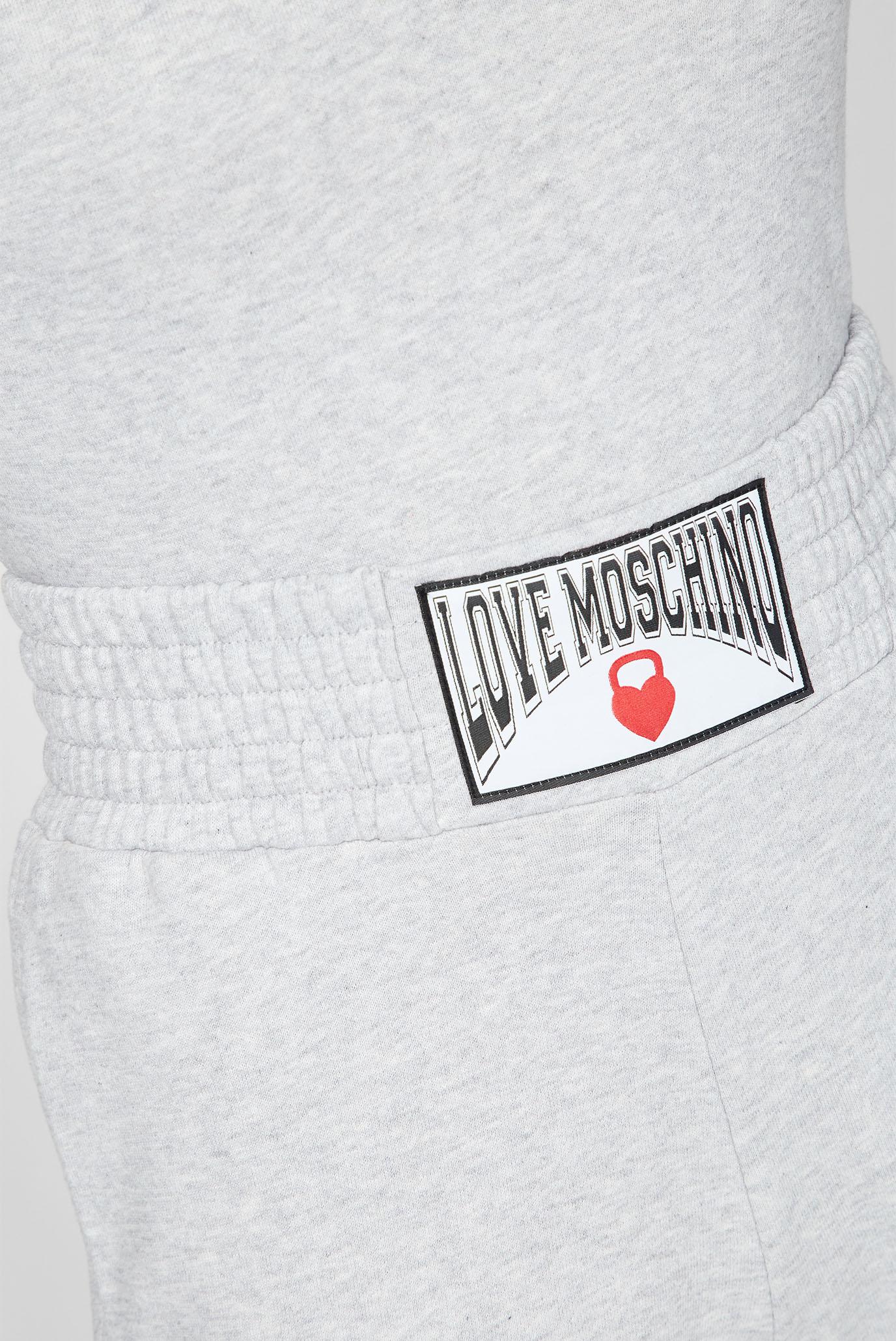 Женские серые спортивные брюки Love Moschino