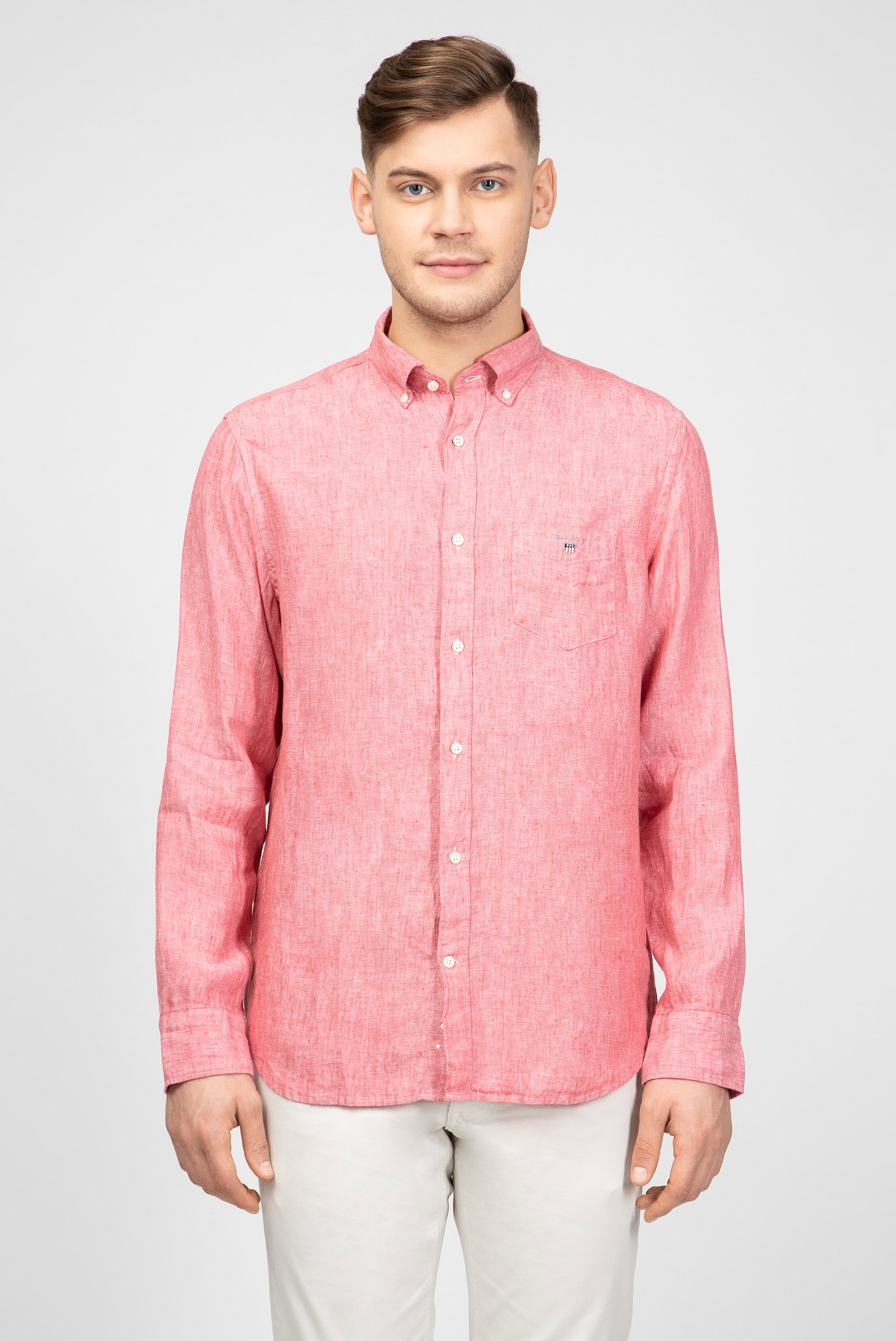 Мужская розовая рубашка Gant