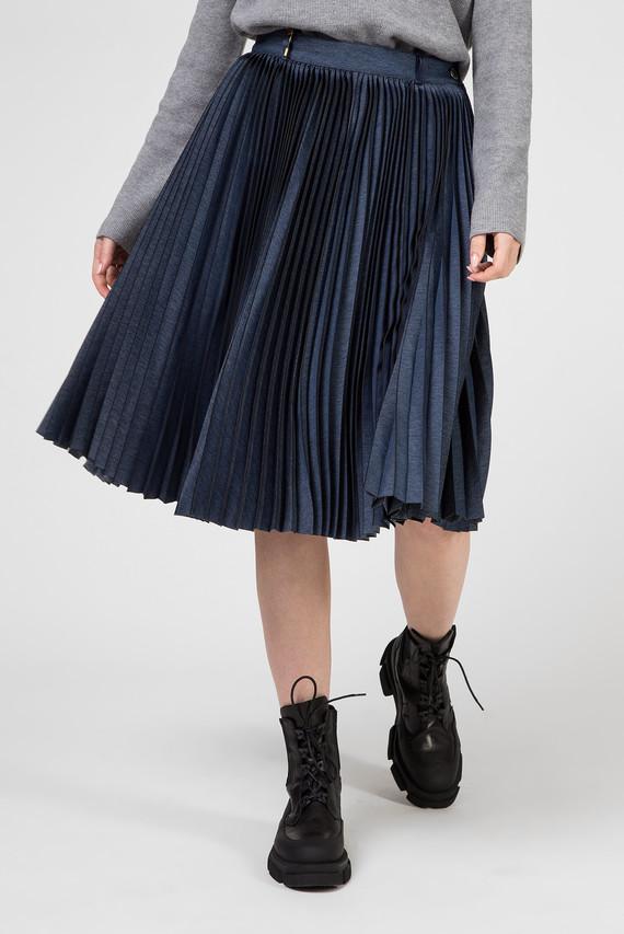 Женская синяя плиссированная юбка 30 Years New York