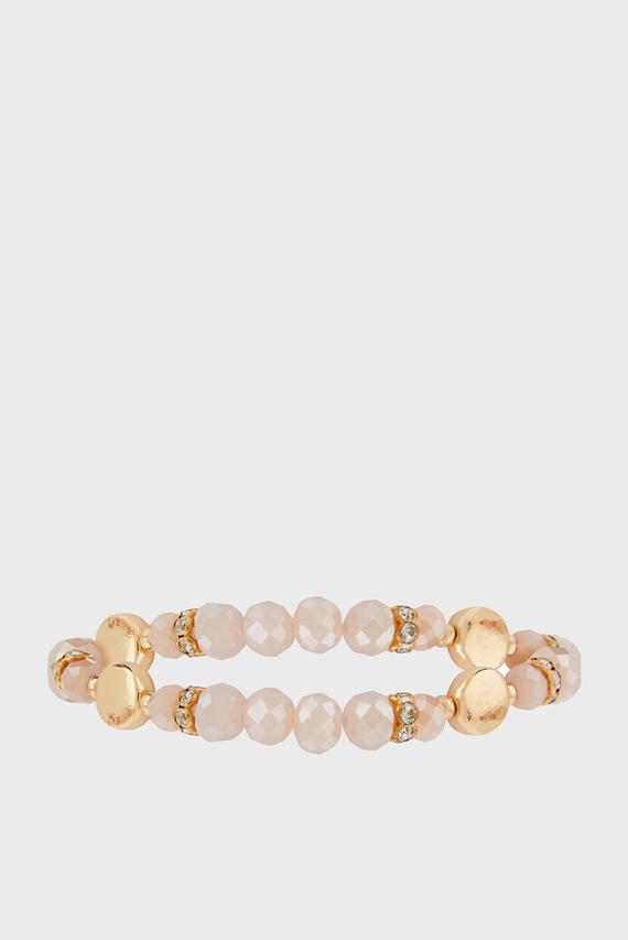 Женский розовый браслет FACET STRETCH BRACELET