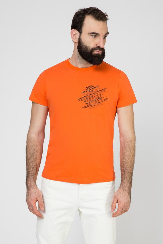 Мужская оранжевая футболка T-WORKY-S1