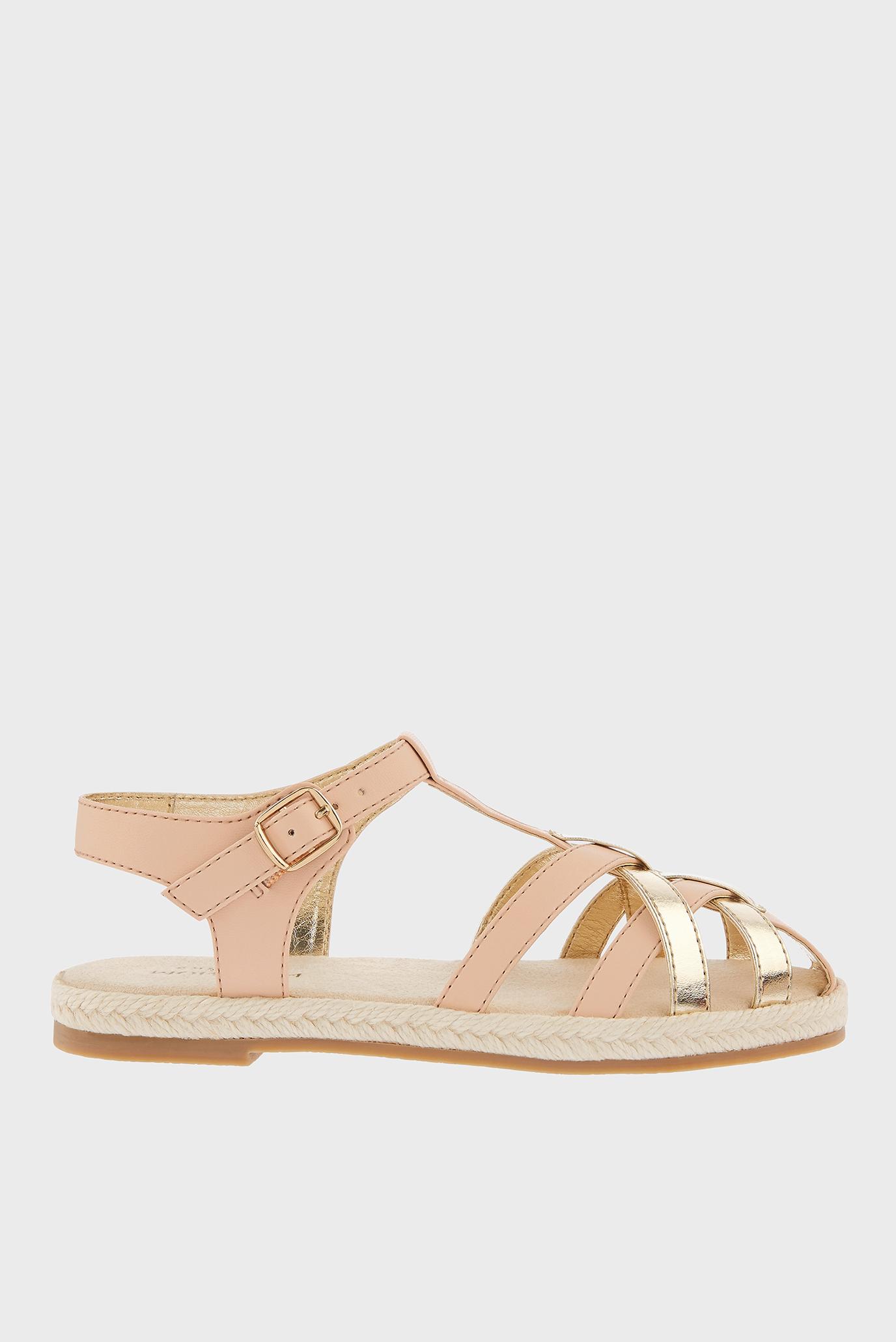 Детские пудровые сандалии PINK AND GOLD CAGED 1