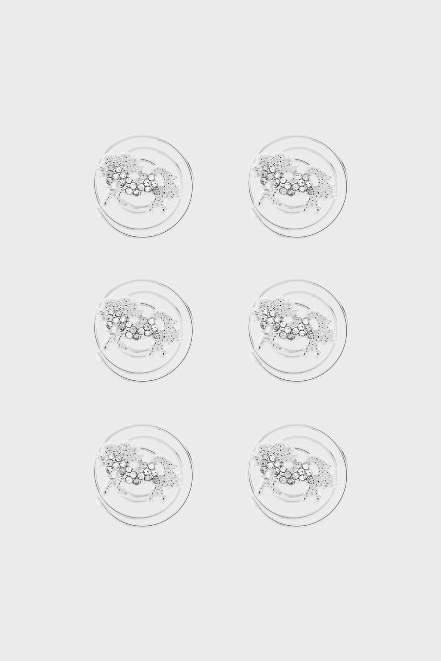 Детские серебристые заколки Diamante Unicorn (6 шт)