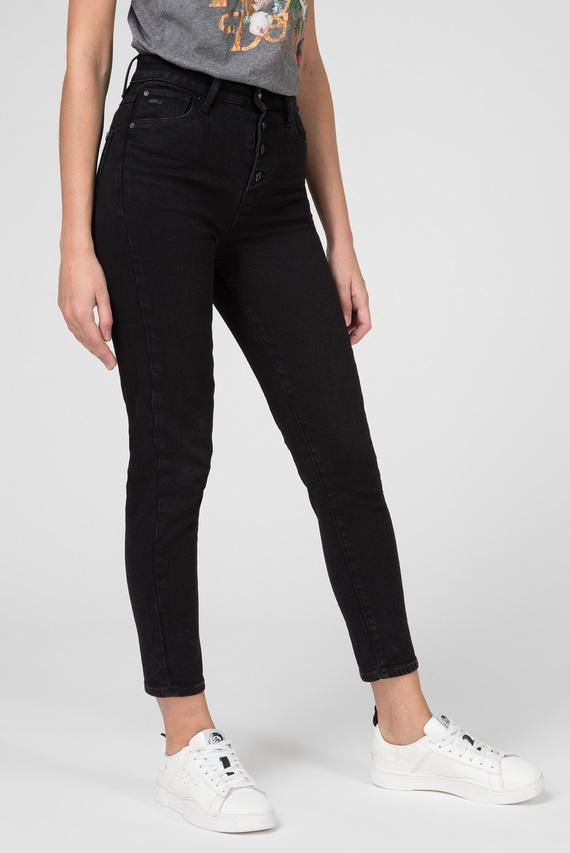 Женские черные джинсы Navik High Slim Ankle
