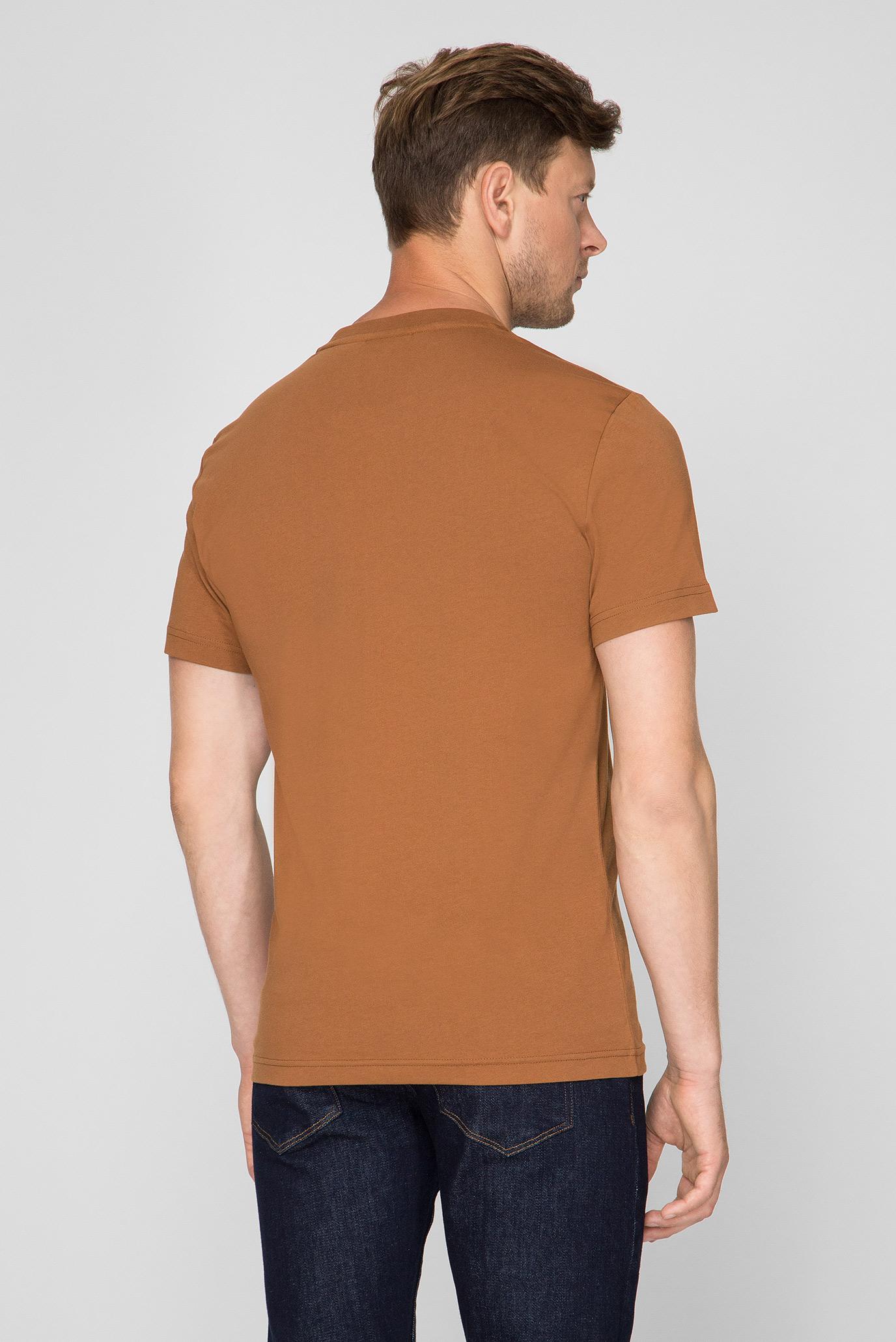 Мужская светло-коричневая футболка Calvin Klein