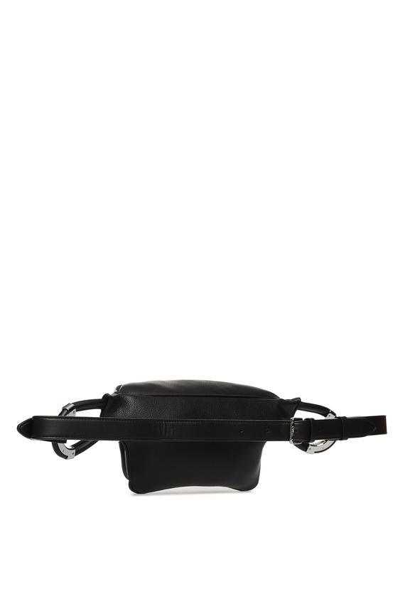 Женская черная поясная сумка