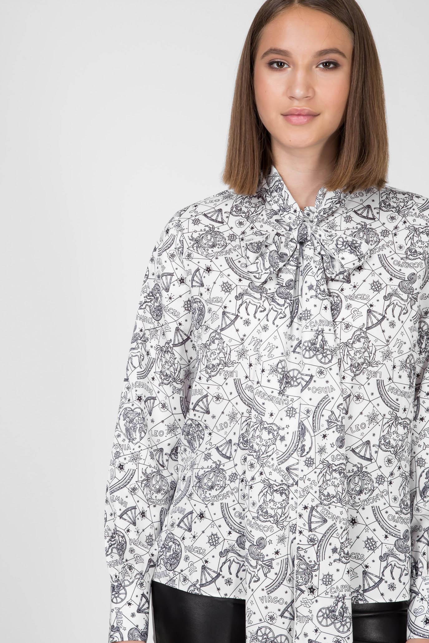 Женская белая блуза с принтом ZENDAYA AF Tommy Hilfiger
