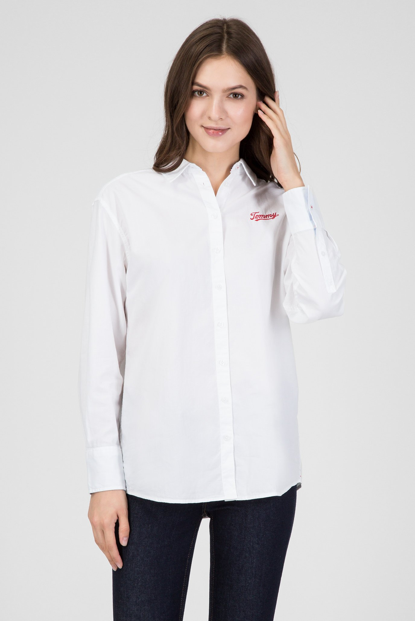 Купить Женская белая рубашка Tommy Hilfiger Tommy Hilfiger DW0DW05260 – Киев, Украина. Цены в интернет магазине MD Fashion