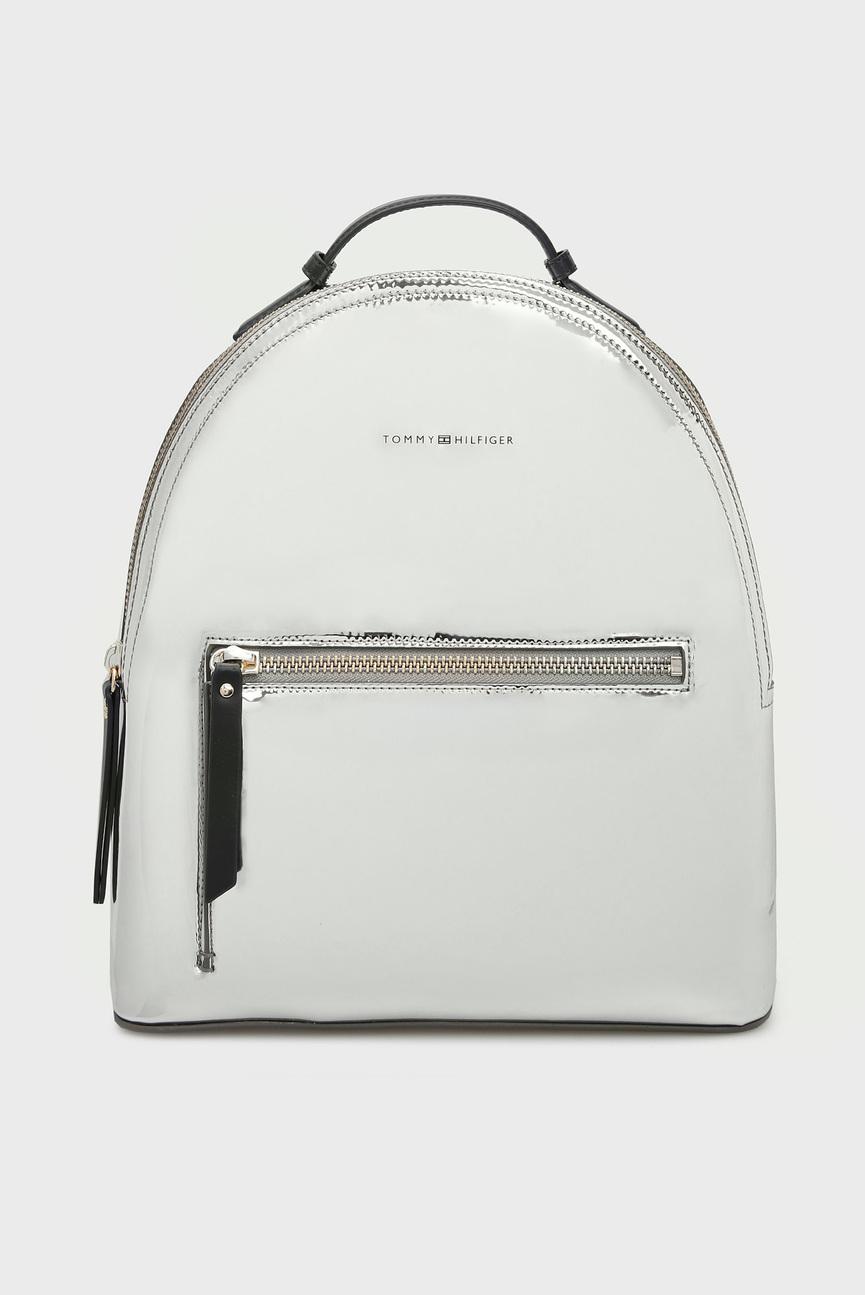 Женский серебристый рюкзак ICONIC