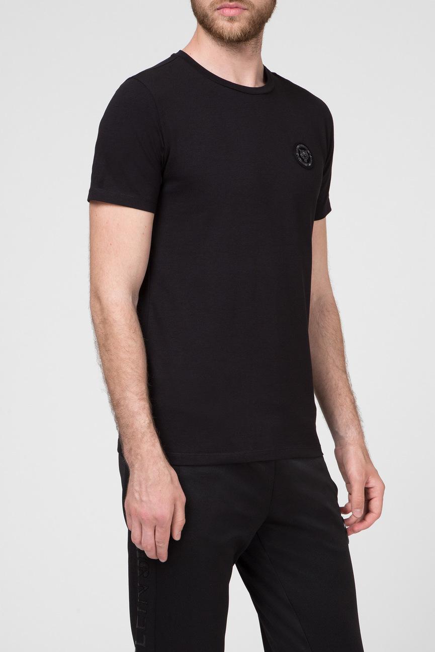 Мужская черная футболка STATEMEN