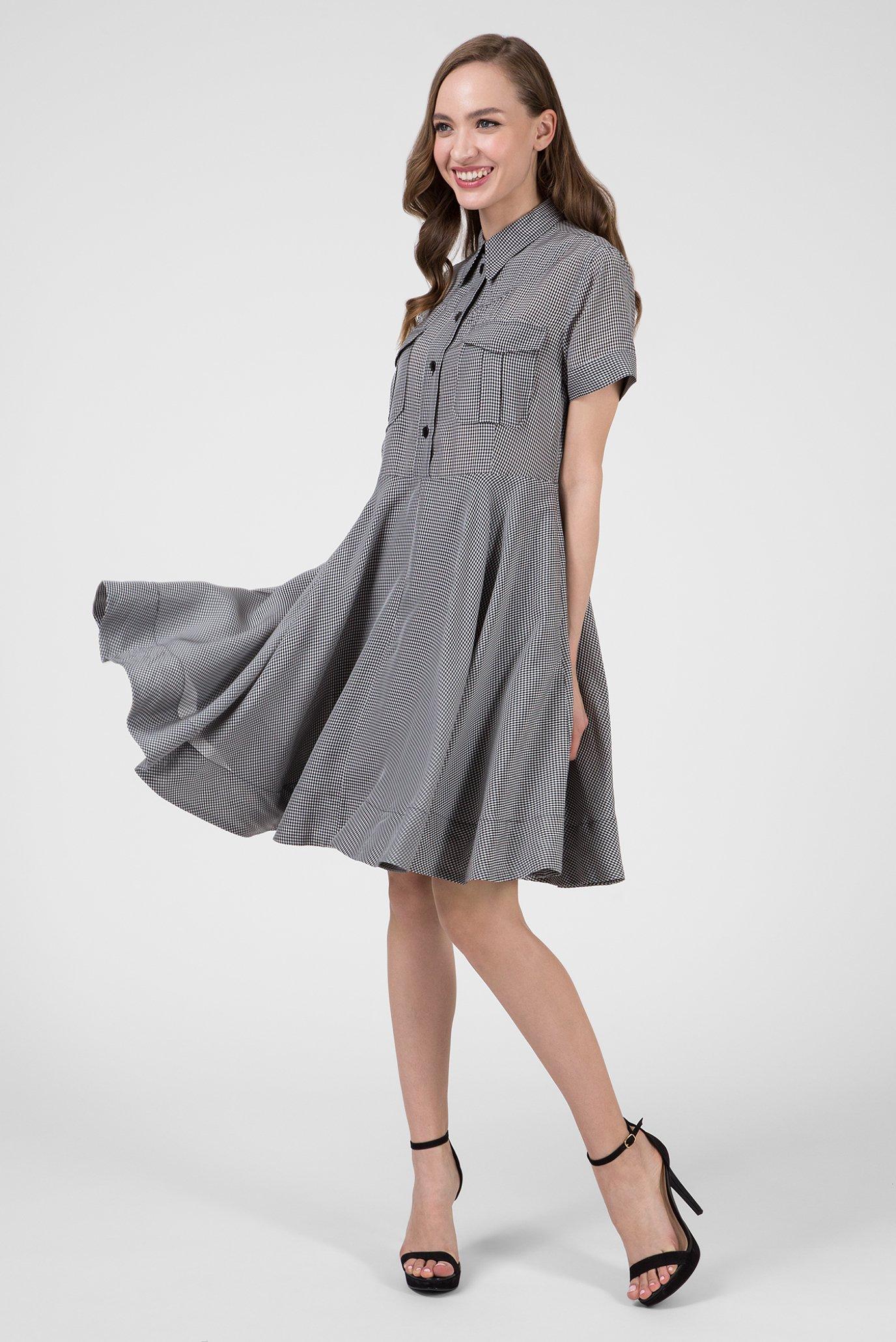 Купить Женское платье в клетку STRONG GINGHAM Calvin Klein Calvin Klein K20K200750 – Киев, Украина. Цены в интернет магазине MD Fashion