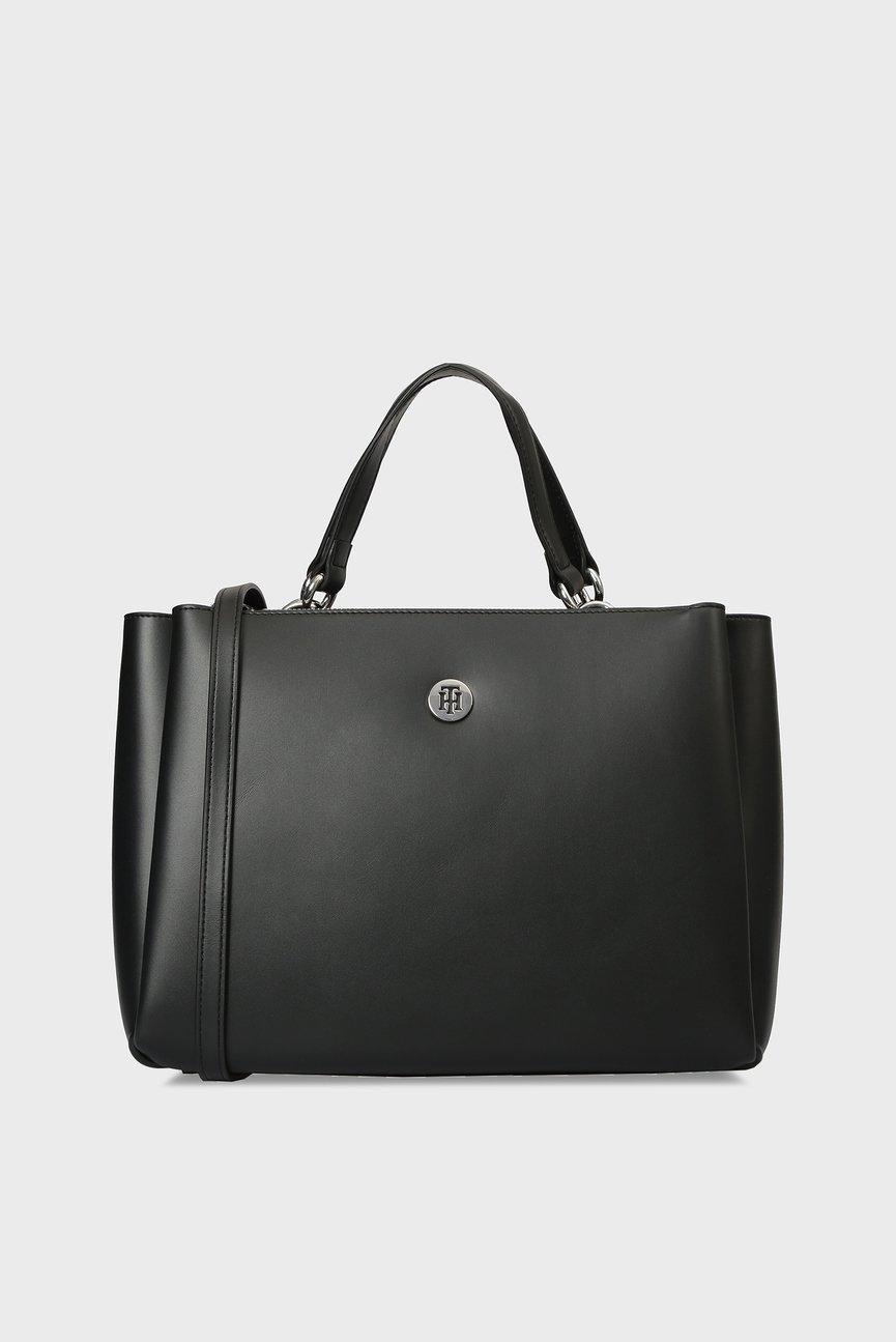 Женская черная сумка на плечо EFFORTLESS