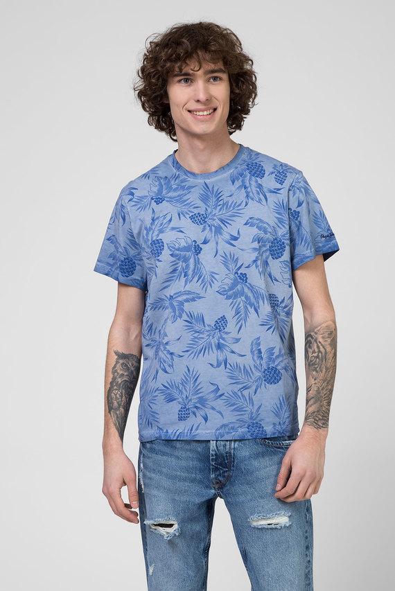 Мужская голубая футболка EMERSON