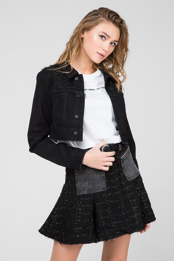 Женская черная джинсовая куртка DE-SVAUPY
