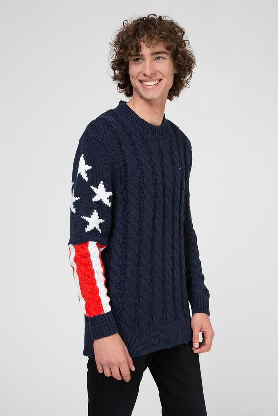 Мужской темно-синий удлиненный свитер TJM AMERICANA FLAG