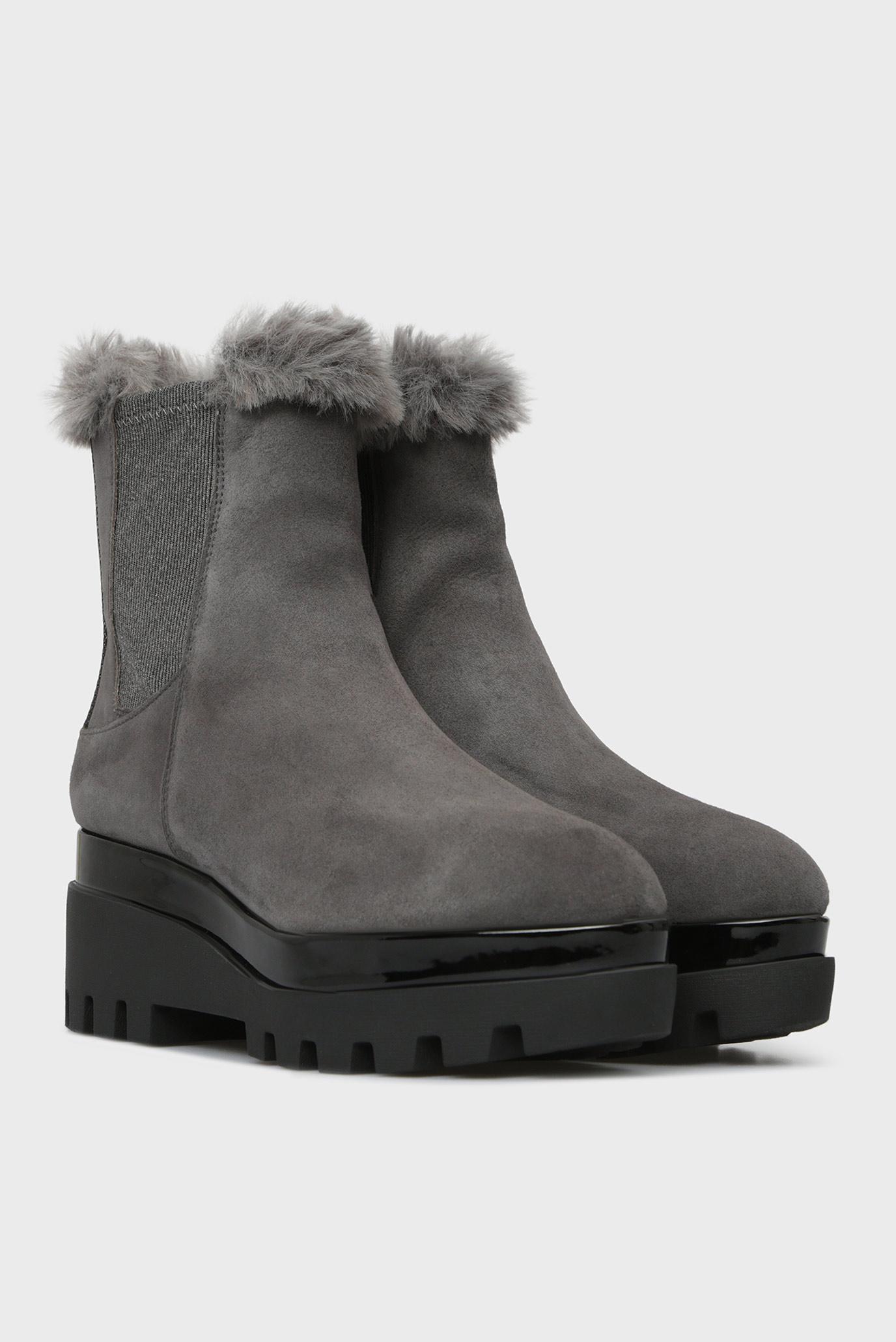 Купить Женские серые замшевые ботинки BAX DKNY DKNY K3807695 – Киев, Украина. Цены в интернет магазине MD Fashion